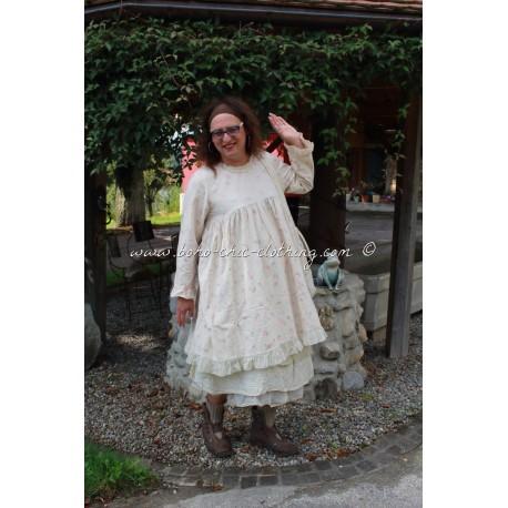 robe JOSEPHINE flanelle grandes fleurs