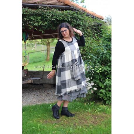 robe JEANINE drap de laine grands carreaux