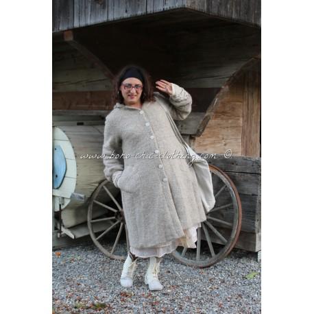 manteau ANDRE doudou taupe et flanelle