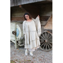 dress MARYLENE in off white linen