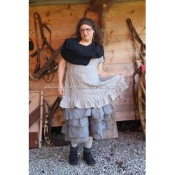 petticoat MADELEINE in grey organza