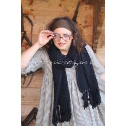 écharpe laine noir