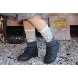 chaussettes laine grises
