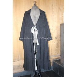 Manteau PALMYRE lin rustique noir