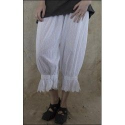 pants Swiss Dot Cotton Bloomers in White