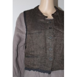 Gilet EWA I WALLA en tweed
