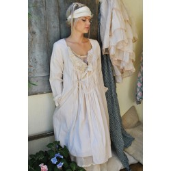 robe / veste CONSTANCE coton rayé rose