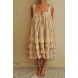 robe / jupe ZOUZOU coton rayé rose