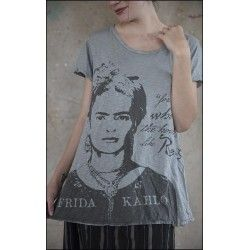 T-shirt Frida Roses in Dove