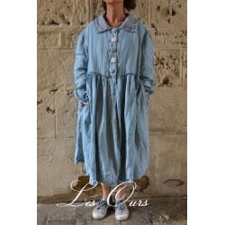 manteau PHILASTER lin bleu