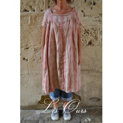 robe FLORIANNE lin grosses rayures