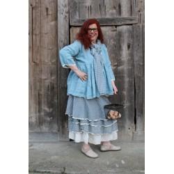skirt / bustier dress MADELEINE gingham cotton