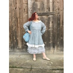 petticoat MADELEINE blue dotted organza