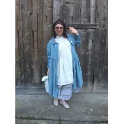 jupon MADELEINE organza bleu