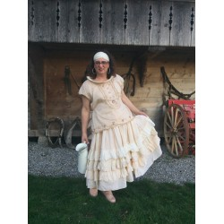 dress / skirt ZOUZOU pink striped cotton