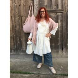 grand sac NINOU lin rayé rose