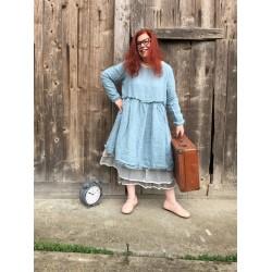 robe SANDRA lin bleu