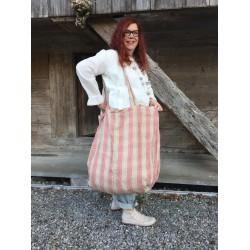 large bag NINOU large striped linen