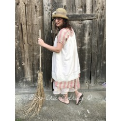 robe BABETTE coton rayé rose