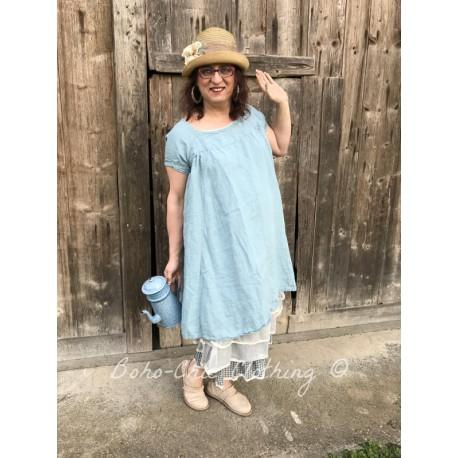 robe FLORIANNE lin bleu