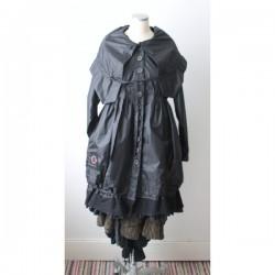 Manteau imperméable PERNILLA noir de jais