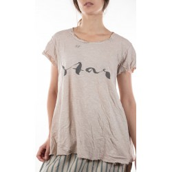 T-shirt Star in Mink