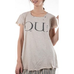 T-shirt Oui in Mink