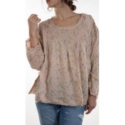 top Ellie in Antique baby periwinkle rose