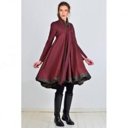 robe RENONCULE en rouge bordeaux