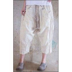 pantalon Emy in Natural Cotton