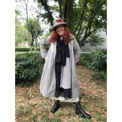 manteau DOROTHEE popeline de coton gris