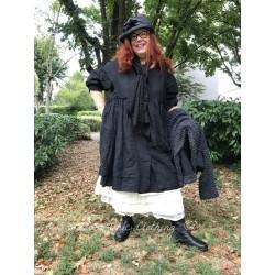 robe / manteau PATOU lin noir