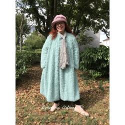 manteau TULIPE en doudou vert menthe