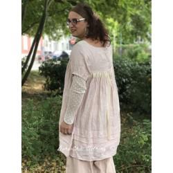 robe / tunique FLORA lin rose