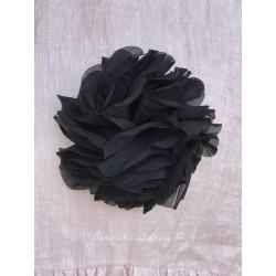 broche FLEUR organza noir