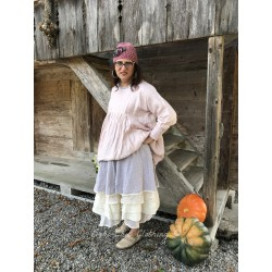 tunic LAURIE in pink linen