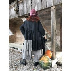 veste longue GERARD lin noir