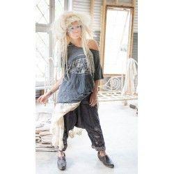 pantalon Joon Pongee in Ink Stone
