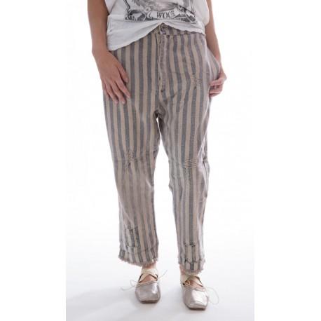 pantalon Sid rayé bleu