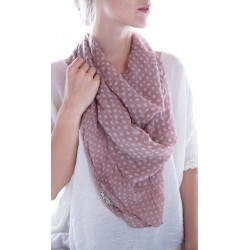 foulard Georgette Monet in Lila dot