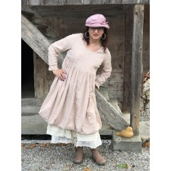 robe LYLY popeline de coton rose