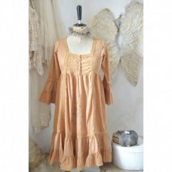 robe Heavenly Brocante en caramel