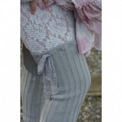 jambières Knitted en gris clair