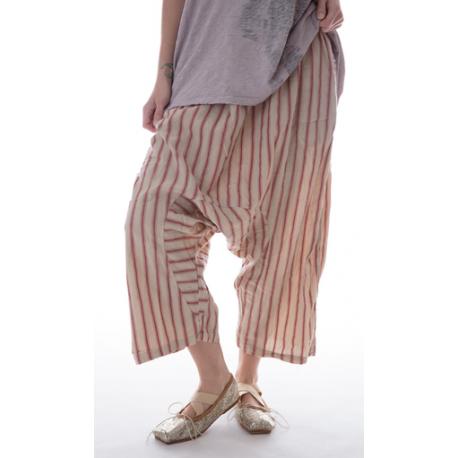 pantalon Garçon rayé rouge