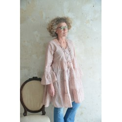 robe Flower small en rose thé