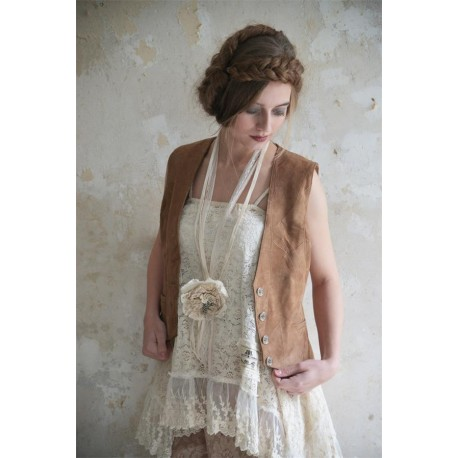 gilet Treasured times en beige