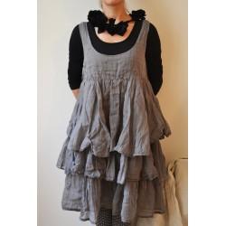 Robe/tunique ANTOINETTE organza gris