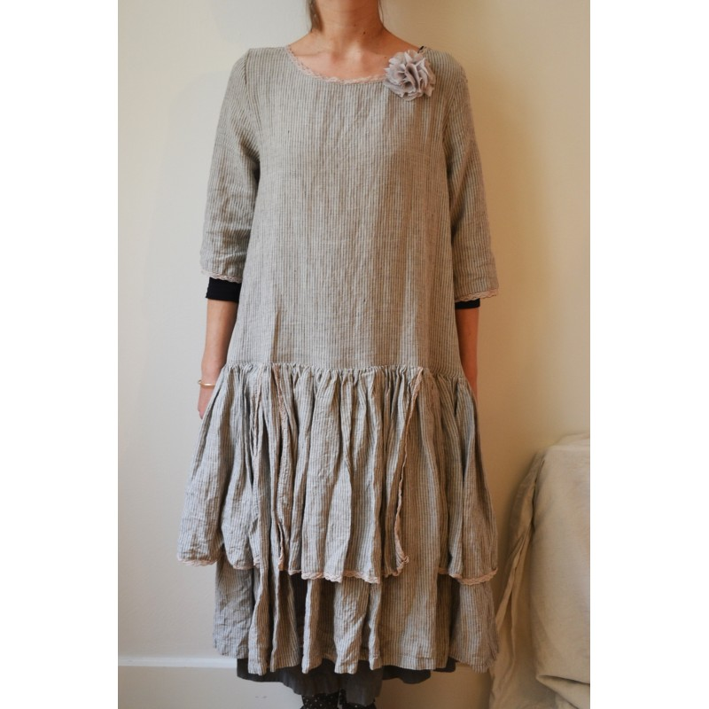 Robe andrea les ours xxl comme neuve chez boho chic clothing ebay for Couleur lin clothing