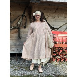 robe AGATHE coton carreaux rose