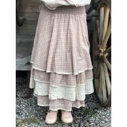 jupe / jupon JENNIFER coton carreaux rose